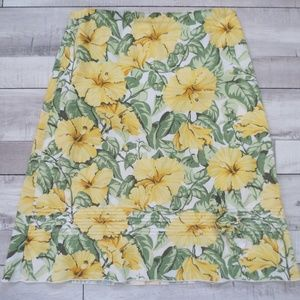 Tropical Yellow Floral Skirt by Speechless